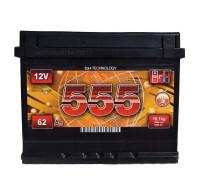 Аккумуляторы Акумулятор ЕВРОБАТ 6СТ-44Ah Аз 390A 555 (1) 207x175x190