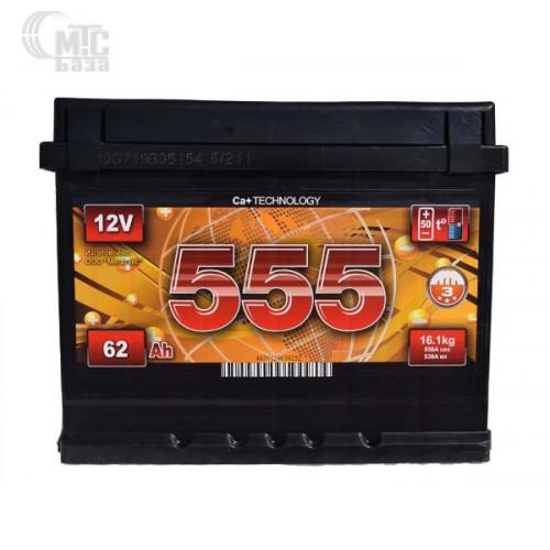 Акумулятор ЕВРОБАТ 6СТ-44Ah Аз 390A 555 (1) 207x175x190