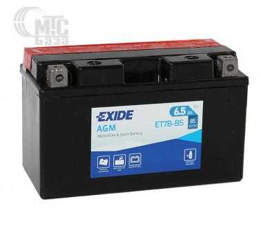 Аккумуляторы Аккумулятор на мотоцикл Exide AGM [ET7B-BS] EN85 А 150x65x85мм