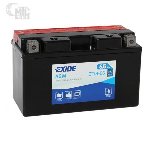 Аккумулятор на мотоцикл Exide AGM [ET7B-BS] EN85 А 150x65x85мм