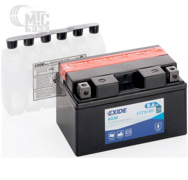Аккумуляторы Аккумулятор на мотоцикл Exide AGM [ETZ10-BS] EN145 А 150x90x95мм
