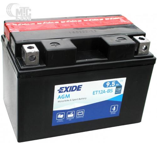 Аккумулятор на мотоцикл Exide AGM [ET12A-BS] EN130 А 150x90x105мм