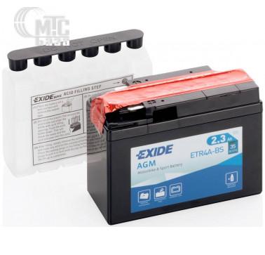 Аккумуляторы Аккумулятор на мотоцикл Exide AGM [ETR4A-BS] EN35 А 115x50x85мм