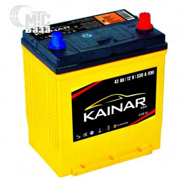 Аккумуляторы Аккумулятор  KAINAR 6CT-42 Аз 44B19L R  Asia 186x129x220 мм EN330 А