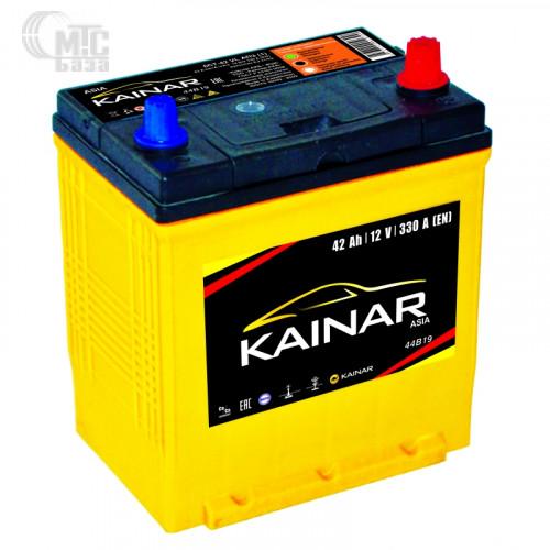Аккумулятор  KAINAR 6CT-42 Аз 44B19L R  Asia 186x129x220 мм EN330 А