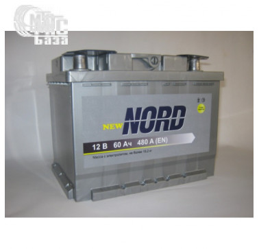 Аккумуляторы Аккумулятор Nord 6СТ-60 Аз Nord EN480 А 242x175x190мм