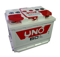 Аккумуляторы Акумулятор Uno 6СТ-60Ah Аз 480A Uno (1) 242x175x190