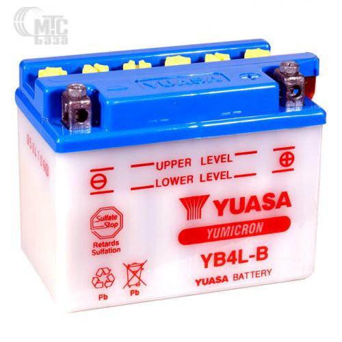 Аккумулятор на мотоцикл Yuasa Yumicron [YB4L-B] 6СТ-4 Ач R EN45 А 120x70x92мм
