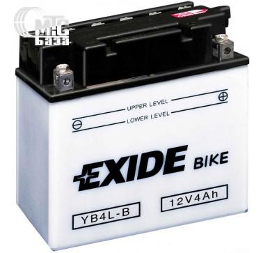 Аккумуляторы Аккумулятор на мотоцикл Exide Conventional [EB4L-B] 6CT-4 Ач, пуск ток EN50 А 120x70x92мм