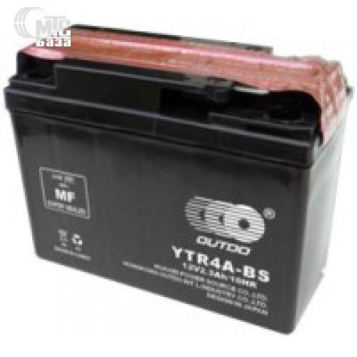 Аккумулятор на мотоцикл Outdo Dry Charged MF Sealed Lead Acid [YTR4A-BS] EN45 А 113x48x85мм