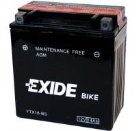 Аккумуляторы Аккумулятор на мотоцикл Exide Maintenance Free [YTX7A-BS] 6CT-6 Ач , пуск ток EN90 А 150x87x93мм