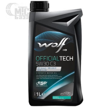 Масла Моторное масло WOLF Officialtech 5W-30 C3 1L