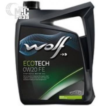 Масла Моторное масло WOLF Ecotech 0W-20 FE 4L
